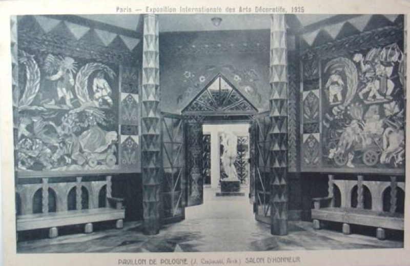Expo Paris 1925 - Carte postale - Pavillon de la Pologne