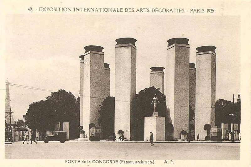 Expo Paris 1925 - Carte postale - Porte de la Concorde