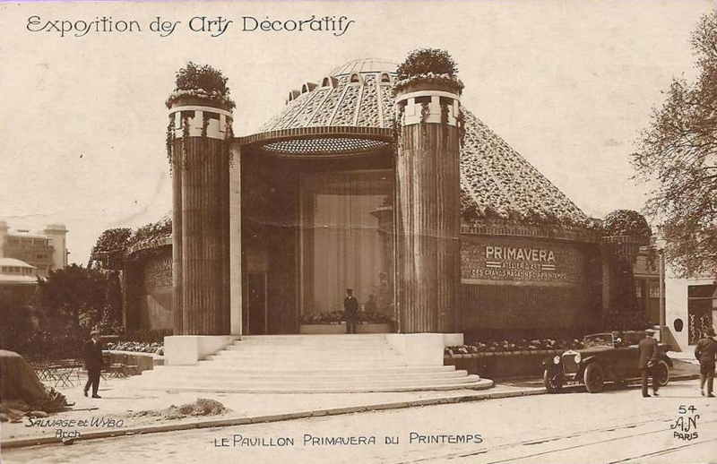 Expo Paris 1925 - Carte postale - Pavillon Primavera des grands magasins du Printemps