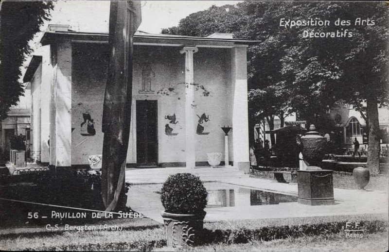 Expo Paris 1925 - Carte postale - Pavillon de la Suède