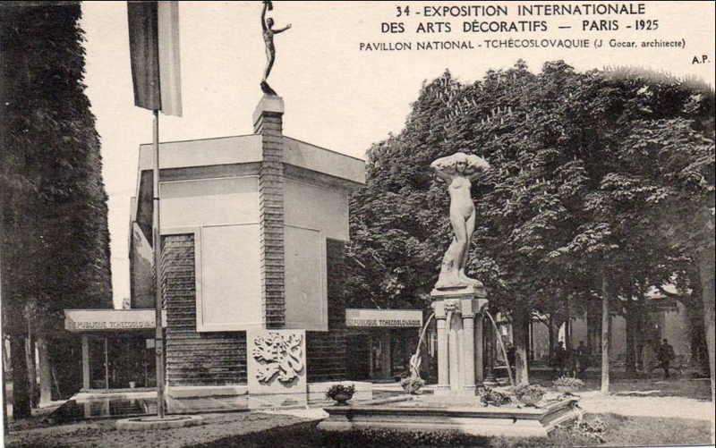 Expo Paris 1925 - Carte postale - Pavillon de la Tchécoslovaquie