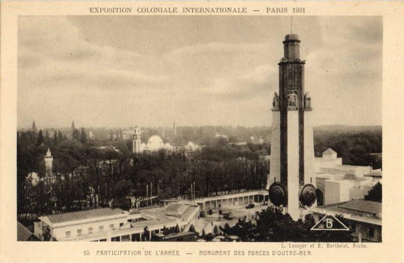 Monument de l Armée et de la Marine -  carte postale - expo paris 1931