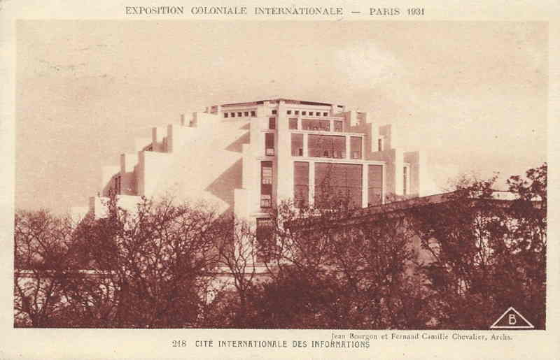 Cité Internationale des Informations - Carte Postale - Exposition Coloniale de Paris 1931