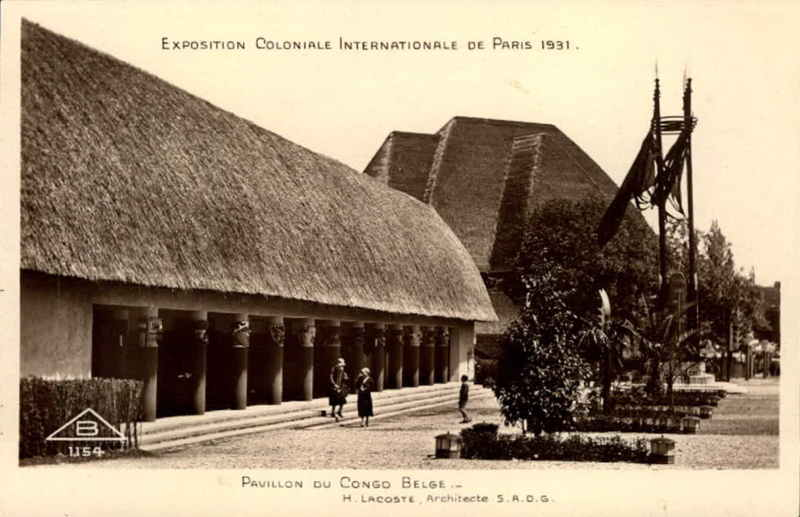 Section Belge - Pavillon du Congo Belge - Carte postale - Expo Paris 1931