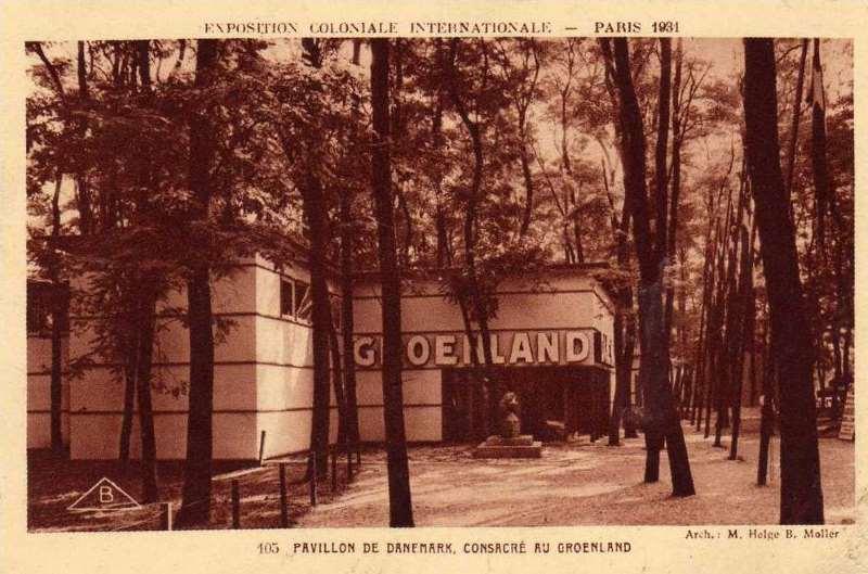 Pavillon du Danemark consacré au Groenland - Carte Postale - Exposition Coloniale de Paris 1931
