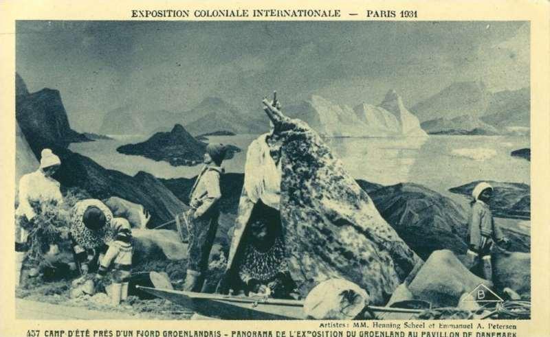 Panorama du Goenland au pavillon du Danemark - Carte Postale - Exposition Coloniale de Paris 1931