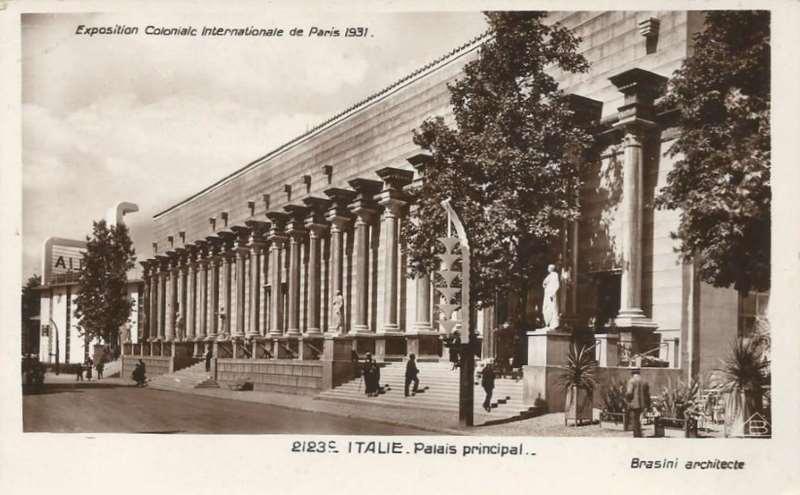 Palais Italien - Carte Postale - Exposition Coloniale de Paris 1931