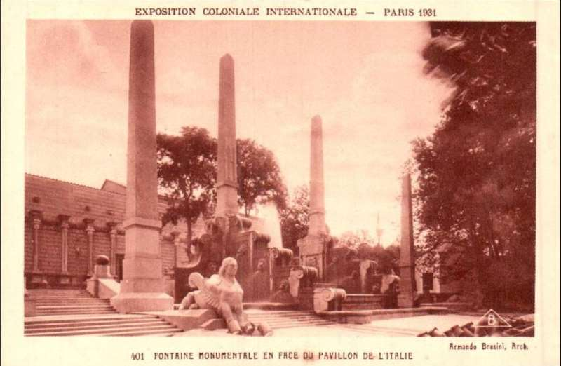 Fontaines monumentales - Carte Postale - Exposition Coloniale de Paris 1931