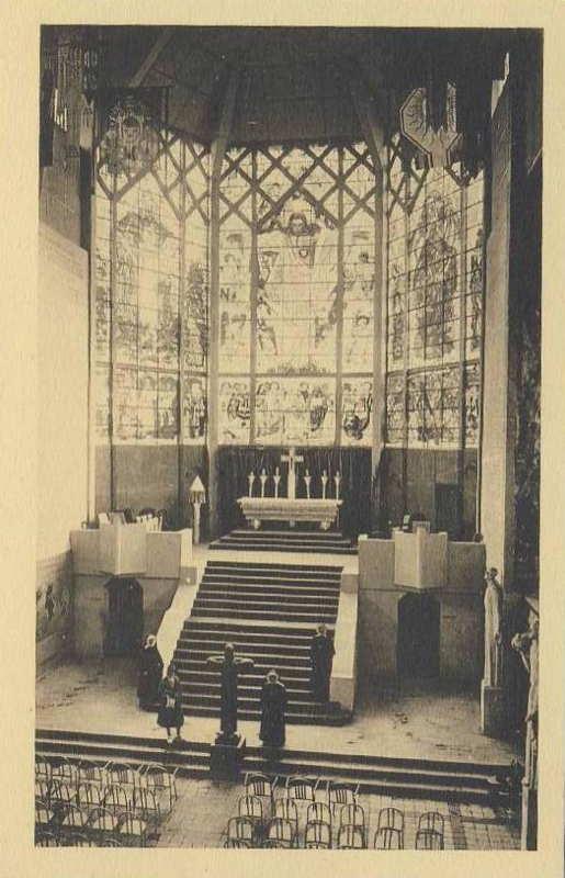 la nef du pavillon des missions catholiques -  carte postale - expo paris 1931