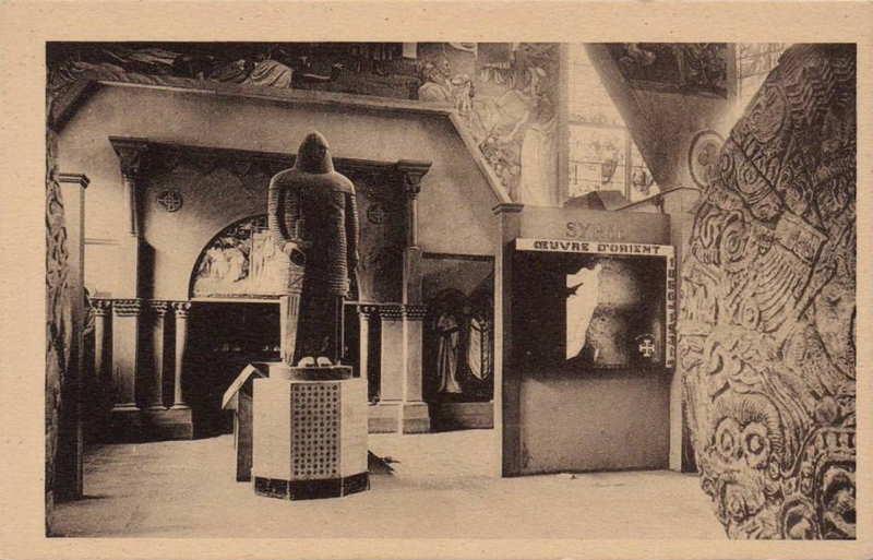 Entrée de la Syrie au pavillon des missions catholiques -  carte postale - expo paris 1931