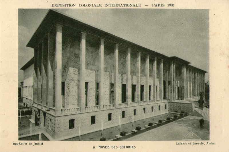 Musée des Colonies - Carte Postale - Exposition Coloniale de Paris 1931