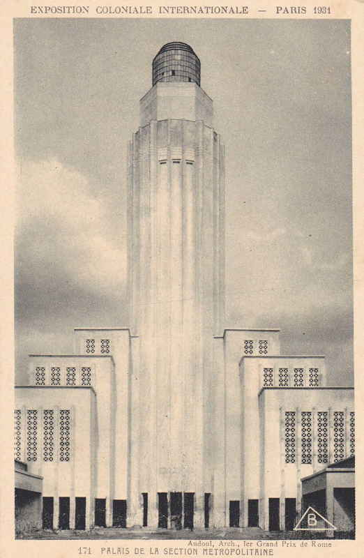 Palais de la  Section Métropolitaine - Carte postale - Expo Paris 1931