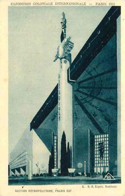 Palais Est de la Section Métropolitaine - Carte postale - Expo Paris 1931