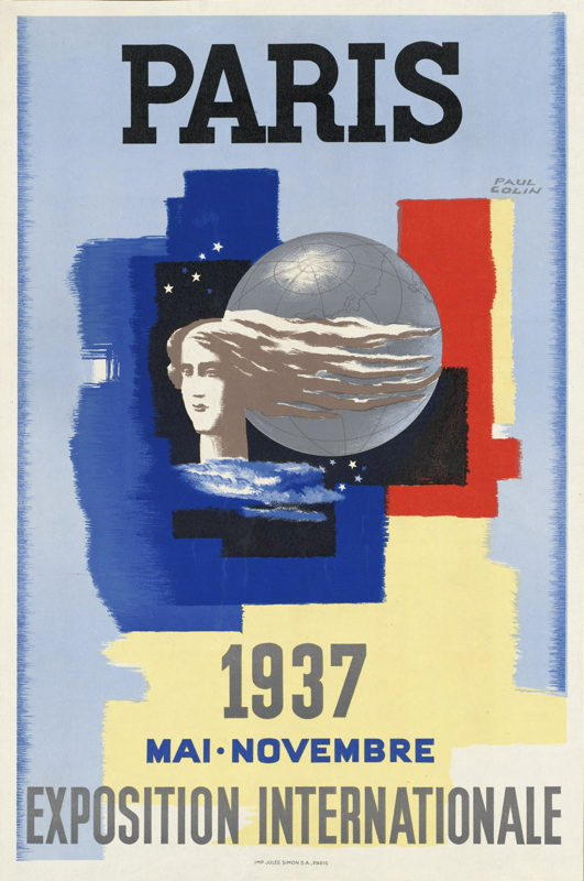 Expo Paris 1937 - Affiche - Paul Colin