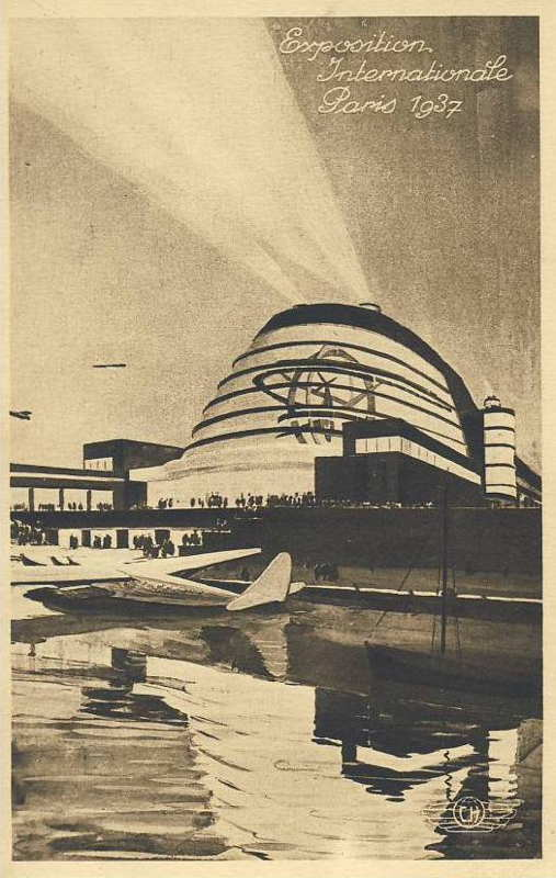 Expo Paris 1937 - carte postale - Pavillon de l Aéronautique