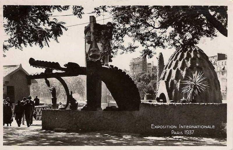 Expo Paris 1937 - Carte postale - La France d Outre-Mer - Afrique Equatoriale Française