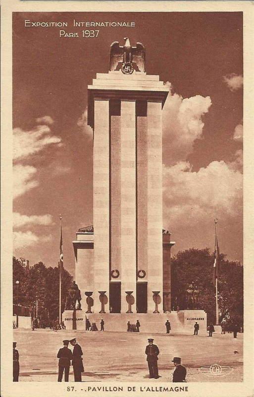 Expo Paris 1937 - carte postale - Pavillon de l Allemagne