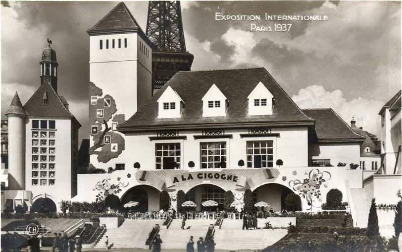 Expo Paris 1937 - Carte postale - Centre régional - Alsace