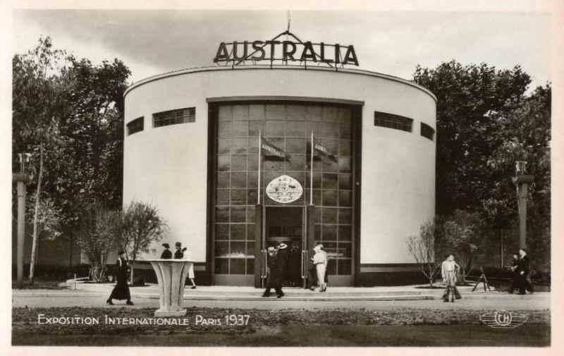 Expo Paris 1937 - Carte postale - Pavillon de l Australie