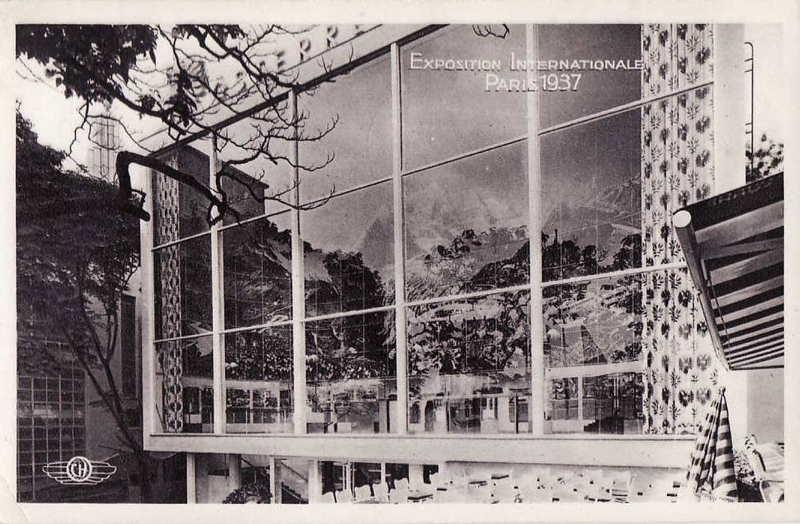 Expo Paris 1937 - Carte postale - Pavillon de L Autriche