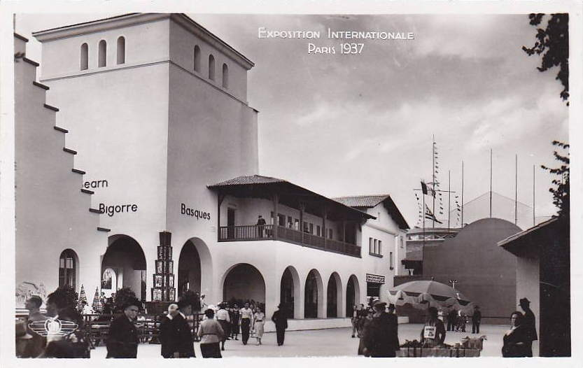 Expo Paris 1937 - Carte postale - Centre régional - Béarn - Bigorre - Basque