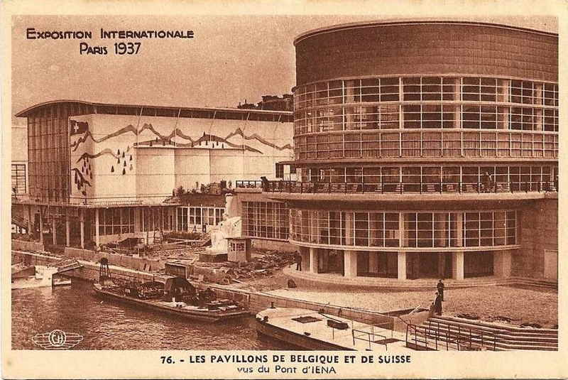 Expo Paris 1937 - Carte postale - Pavillon de la Belgique