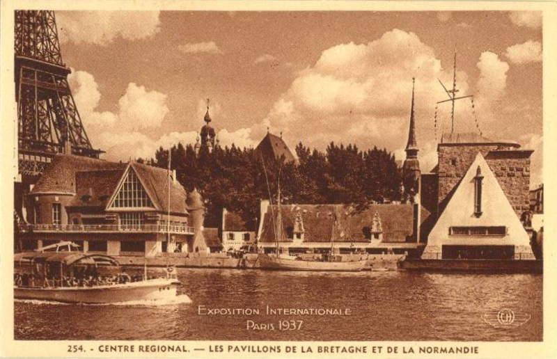 Expo Paris 1937 - Carte postale - Centre régional - Bretagne