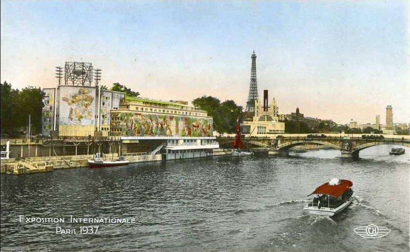 Expo Paris 1937 - carte postale - CGT  -Confédération Générale du Travail