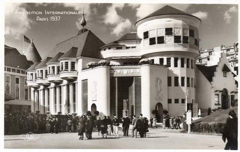 Expo Paris 1937 - Carte postale - Centre régional - Champagne