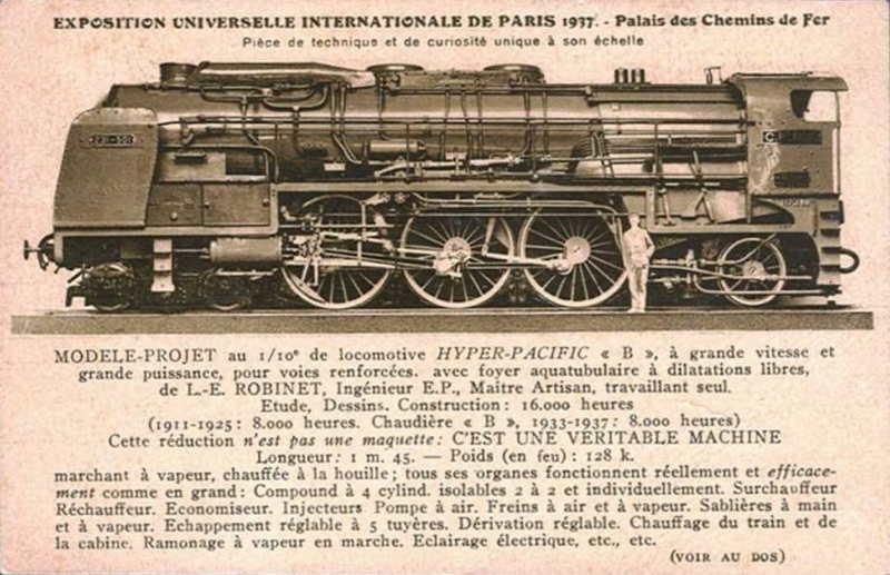 Expo Paris 1937 - Carte postale - Palais des Chemins de Fer