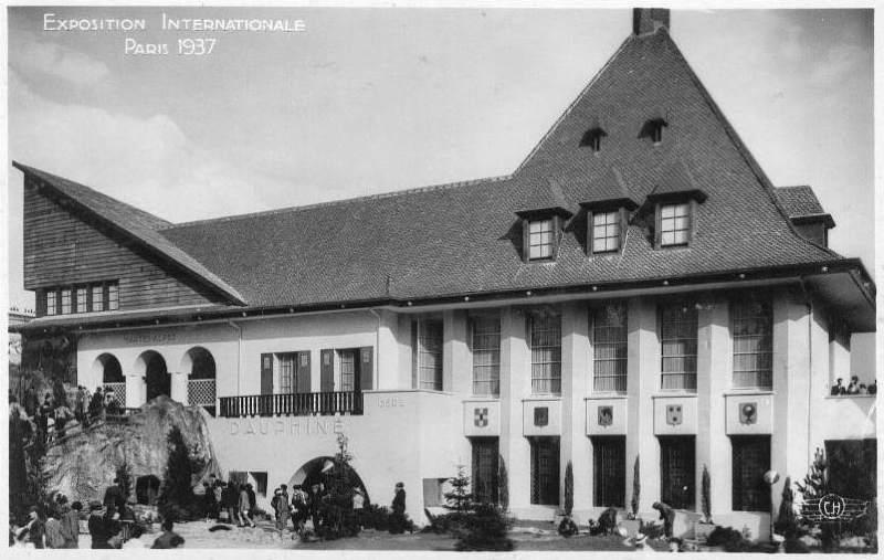 Expo Paris 1937 - Carte postale - Centre régional - Dauphiné