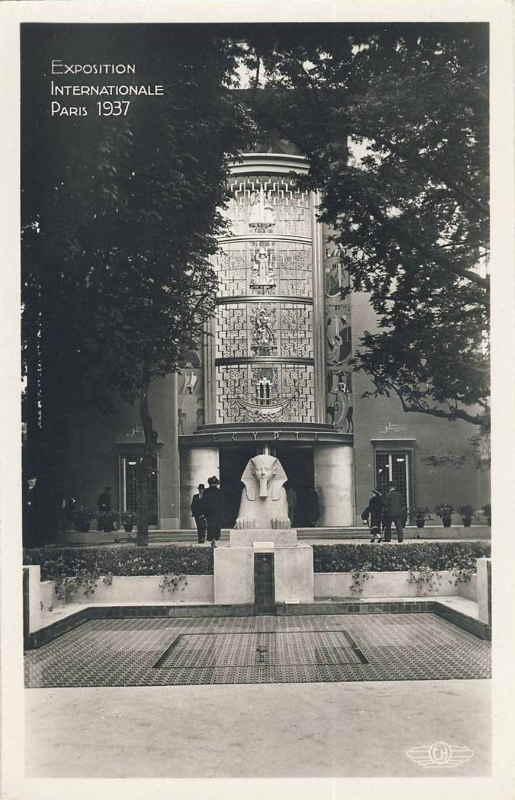 Expo Paris 1937 - Carte postale - Pavillon de l Egypte