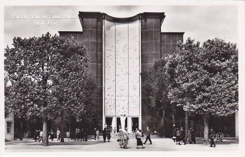 Expo Paris 1937 - Carte postale - Pavillon de l Enseignement