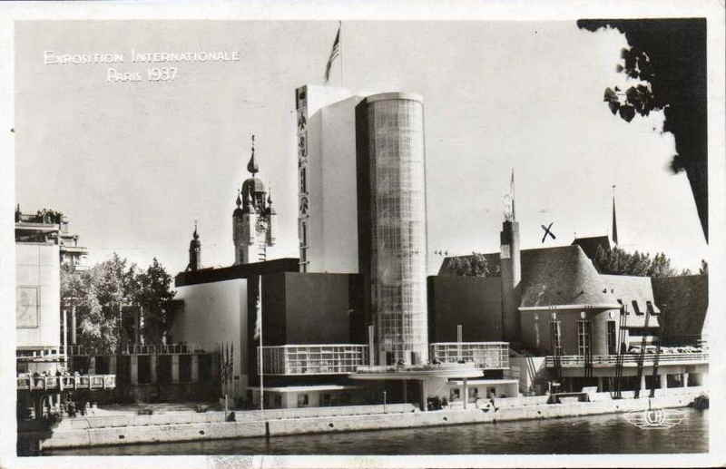 Expo Paris 1937 - Carte postale - Pavillon des Etats Unis