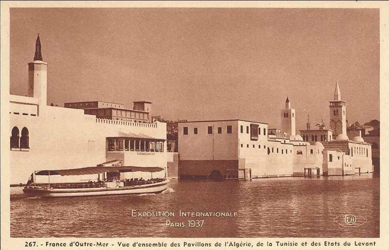 Expo Paris 1937 - Carte postale -La France d Outre-Mer - Vues d ensemble