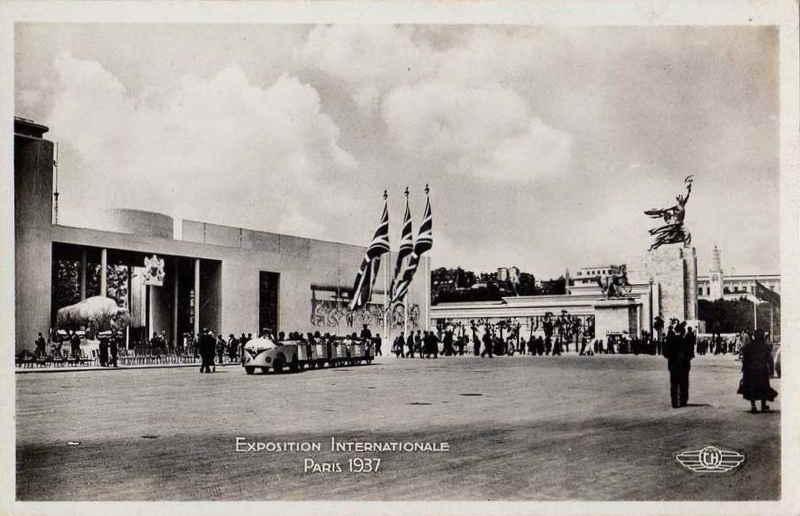 Expo Paris 1937 - Carte postale - Pavillon de la Grande Bretagne