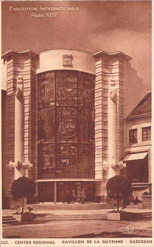 Expo Paris 1937 - Carte postale - Centre régional - Guyenne - Gascogne