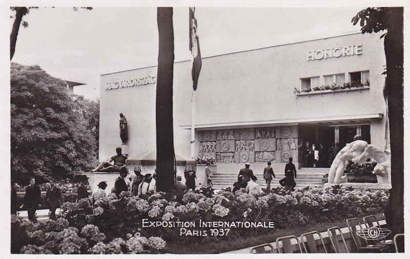 Expo Paris 1937 - Carte postale - Pavillon de la Hongrie
