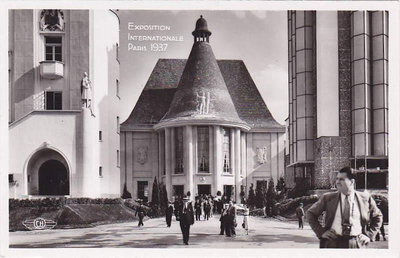 Expo Paris 1937 - Carte postale - Centre régional - Ile de France