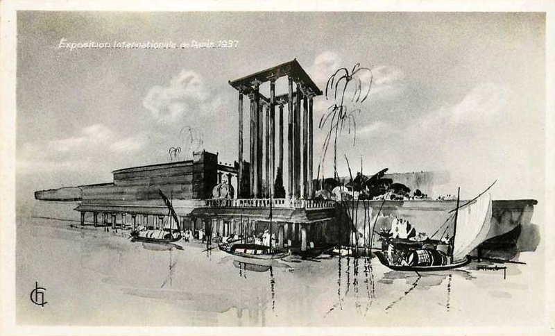 Expo Paris 1937 - Carte postale - La France d Outre-Mer - L Inde Française