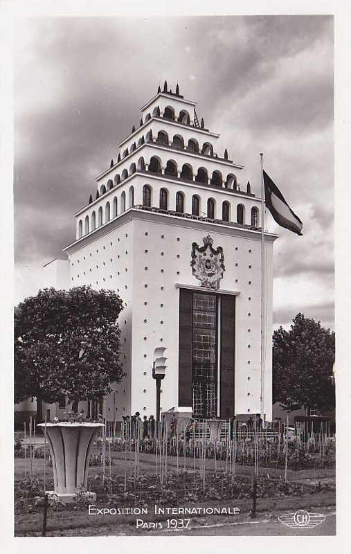 Expo Paris 1937 - Carte postale - Pavillon de l Irak