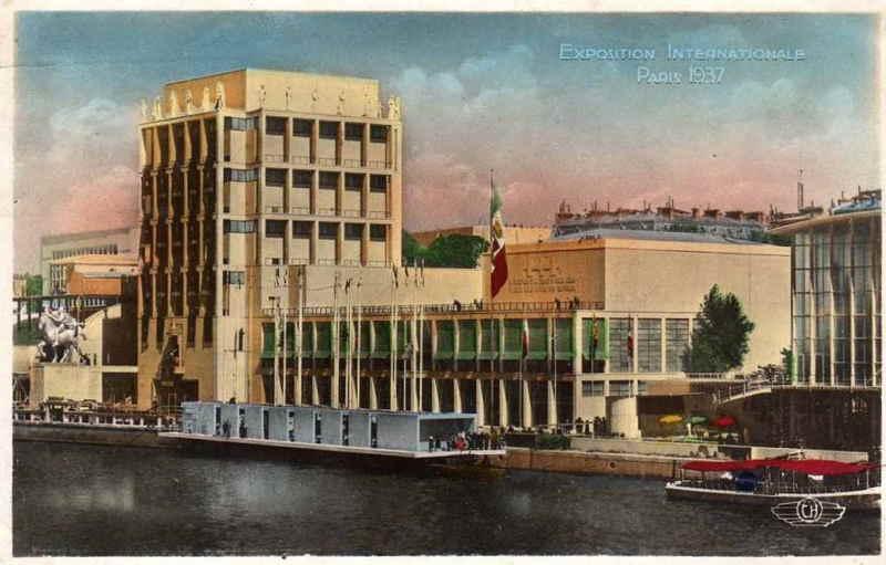 Expo Paris 1937 - Carte postale - Pavillon de l Italie