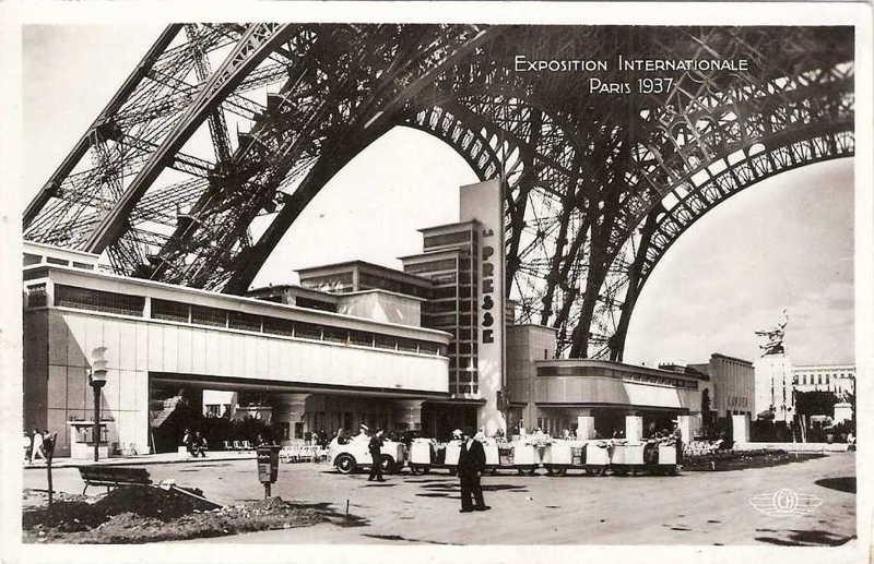 Expo Paris 1937 - Carte postale - Palais de la Presse