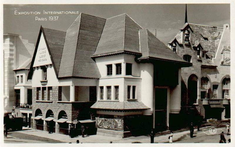 Expo Paris 1937 - Carte postale - Centre régional - Limousin - Marche - Quercy - Périgord