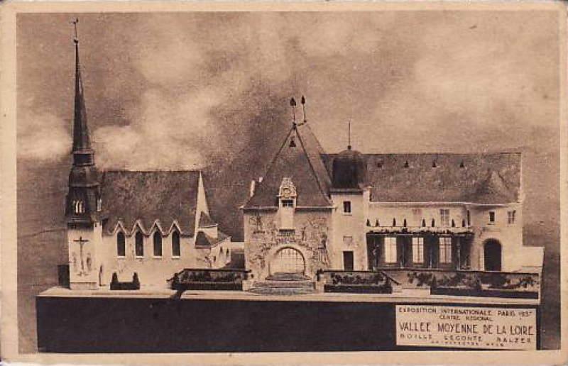 Expo Paris 1937 - Carte postale - Centre régional - Vallée Moyenne de la Loire