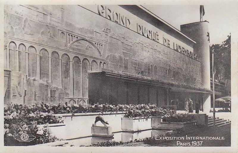 Expo Paris 1937 - Carte postale - Pavillon du Luxembourg