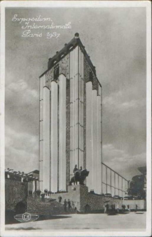 Expo Paris 1937 - Carte postale - Centre régional - Lyonnais