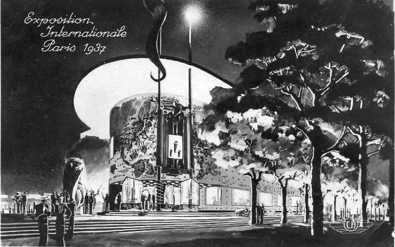 Expo Paris 1937 - Carte postale - Pavillon de la Maroquinerie