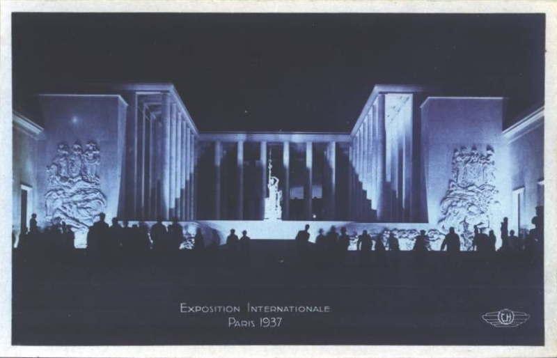 Expo Paris 1937 - Carte postale - Musée des Arts Modernes