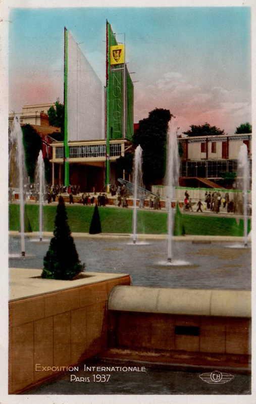 Expo Paris 1937 - Carte postale - Pavillon de la Norvège